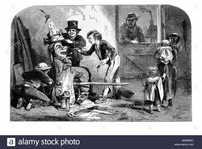 fifth-of-november-building-the-guy-fawkes-1853-bonfire-night-cracker-BAM5WC
