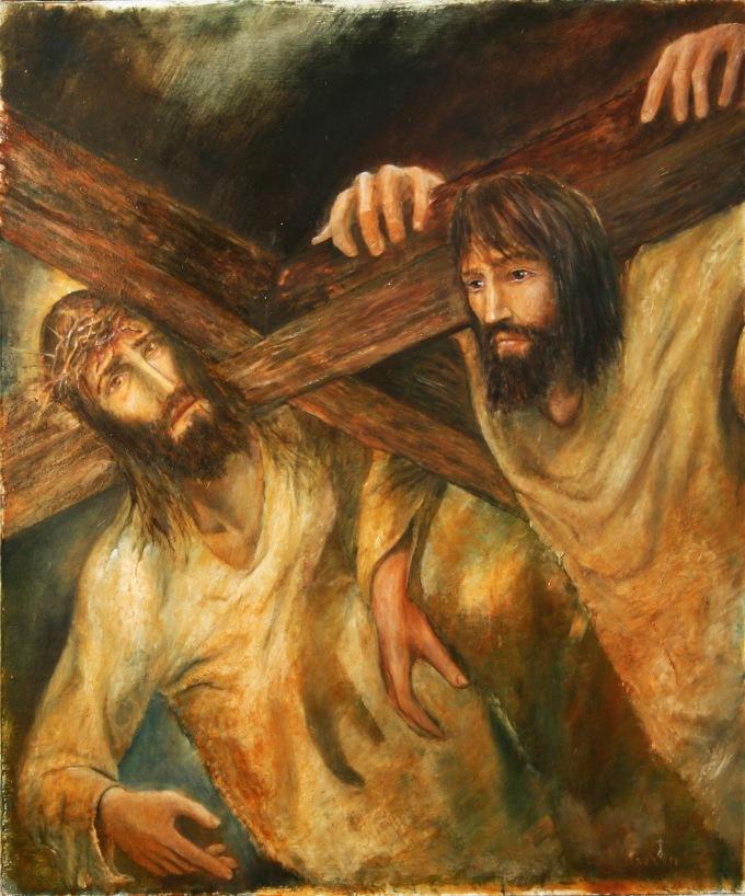 5. Simon of Cyrene carries the cross