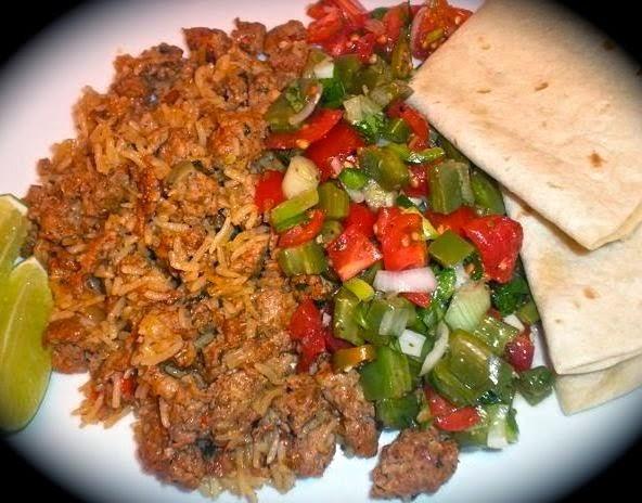 Chorizo and Rice with Nopalitos Salad2