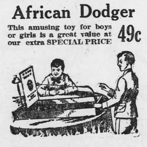 Bridgeport Evening Farmer - December 21 1917 page 10 - African dodger table game