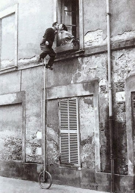 Unicycle Window Kiss, ca. 1950s.jpg